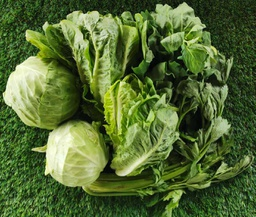 Leafy Greens Mix - 2.5 kilos of Cabbage, Lettuce, Celery, Spinach